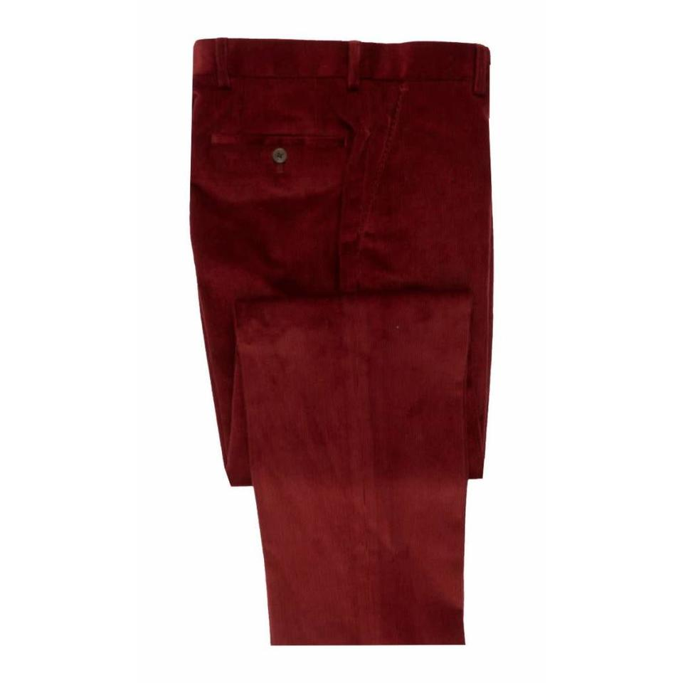 Needlecord Trousers - Burgundy