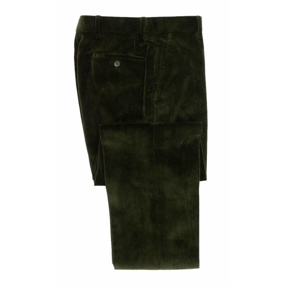Needlecord Trousers - Olive