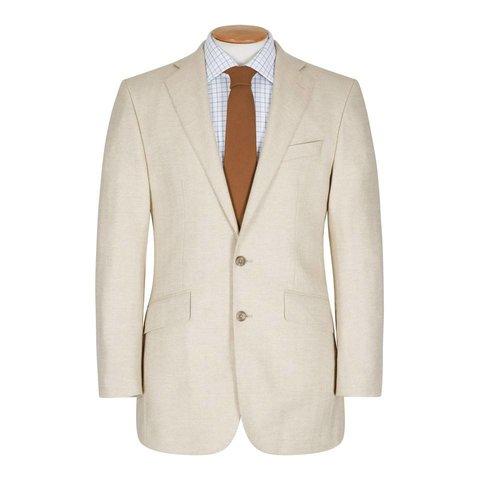 Single Breasted Cashmere Jacket, Beige