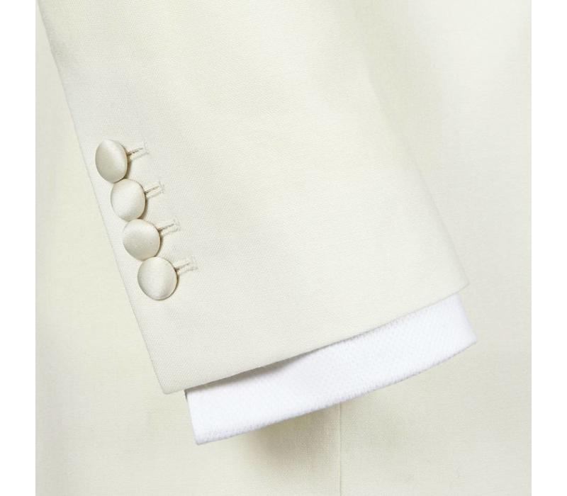 Double Breasted White Dinner Jacket