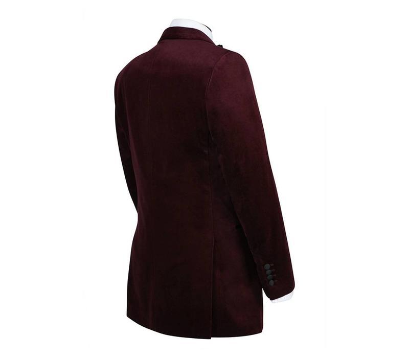 Carlyle Smoking Jacket - Burgundy