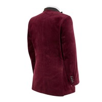 Single Breasted Smoking Jacket, with Shawl Collar - Burgundy