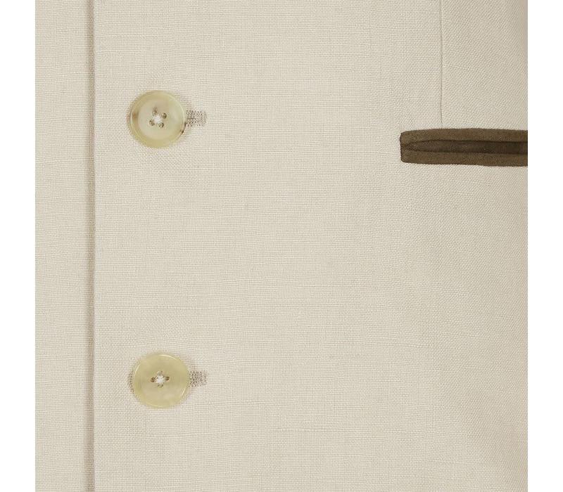 Linen Austrian Jacket - Sand