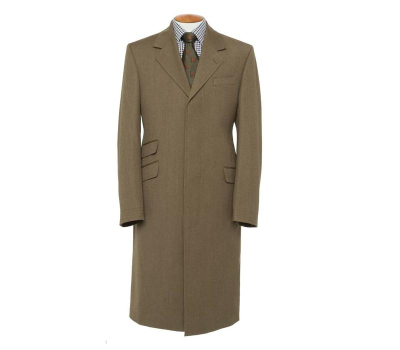 Covert Coat, Covert Collar - Brown