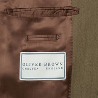Covert Coat, Velvet Collar - Brown