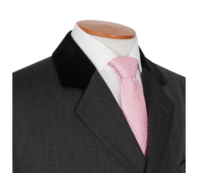 Covert Coat, Velvet Collar - Charcoal