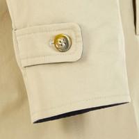 Long Reversible Raincoat - Navy and Tan