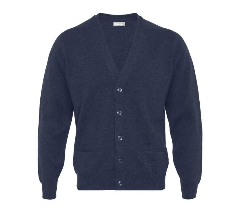 Lambswool Cardigan - Navy