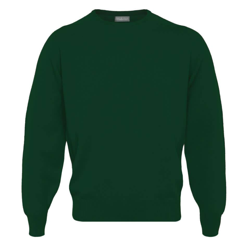 593b6d0fabc Oliver Brown Lambswool Crew Neck Jumper - Bottle