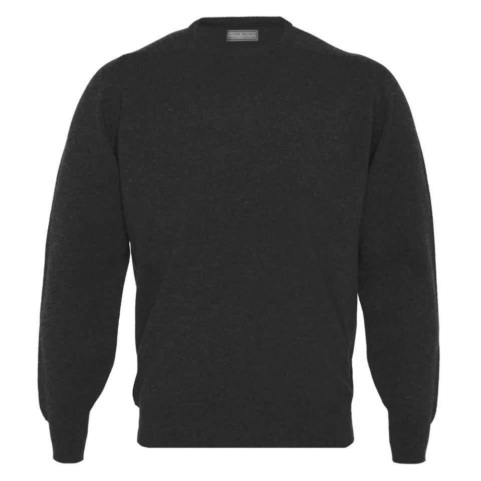 Lambswool Crew Neck Jumper - Charcoal