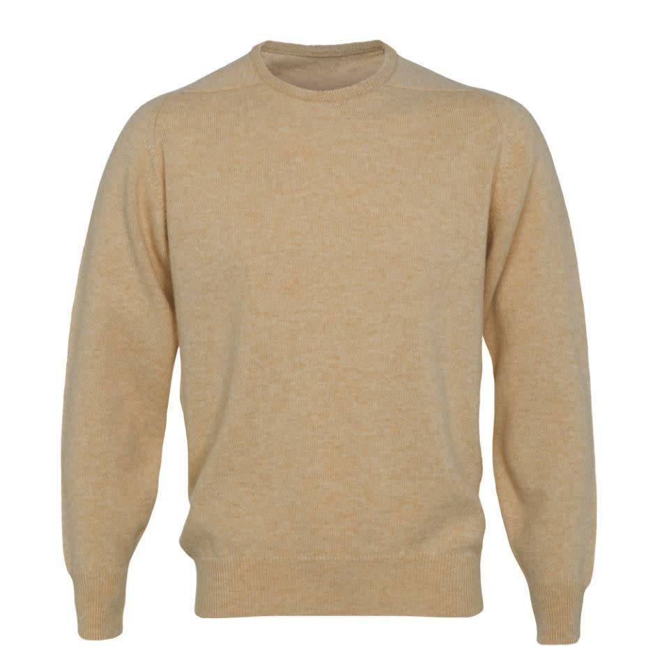 Lambswool Crew Neck Jumper - Camel