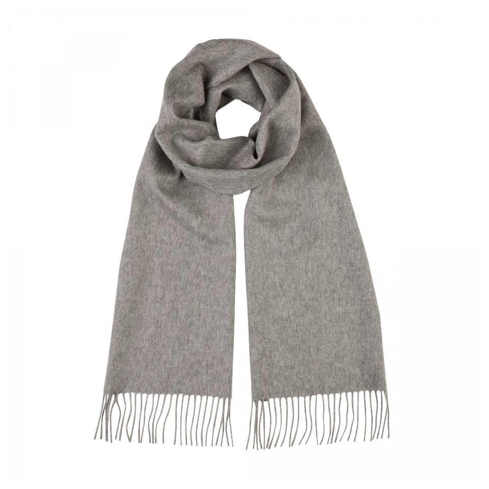 Hand finished Cashmere Scarf - Grey