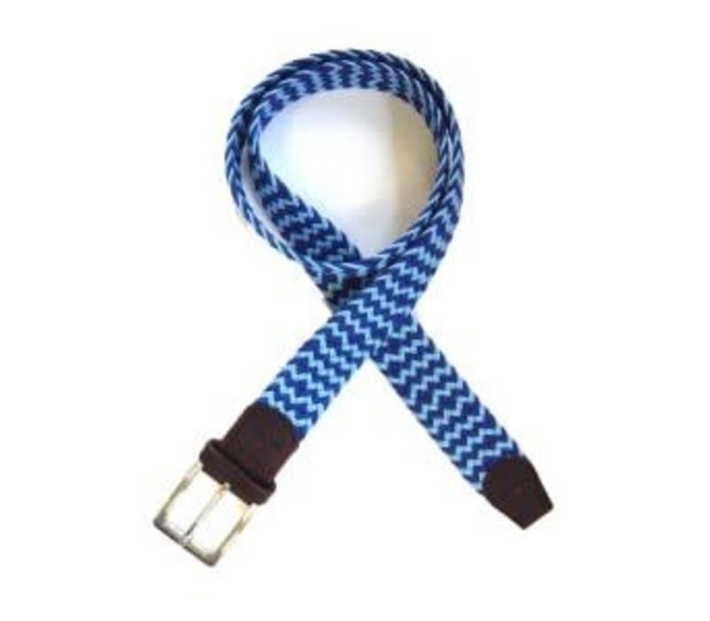 Tyler and Tyler Belt, Blue and Light Blue Zig Zag