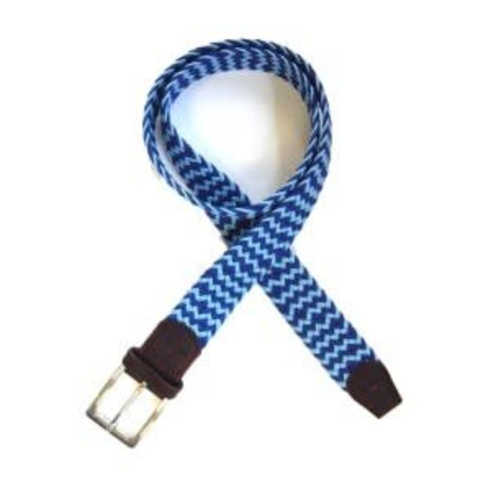 Tyler and Tyler Belt, Blue and Light Blue Zig Zag
