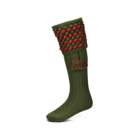 Angus Shooting Socks - Moss