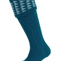 Open Worktop Shooting Socks - Mallard and Teal