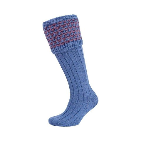 Rabbits Ears Shooting Socks - Denim and Lilac