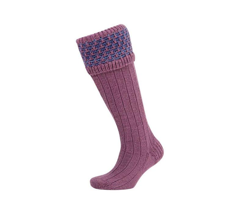 Rabbit Ears Shooting Socks - Lilac and Denim