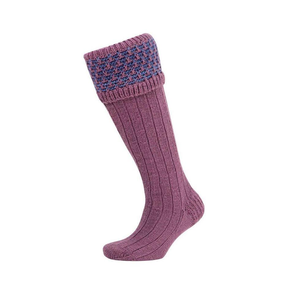 Rabbits Ears Shooting Socks - Lilac and Denim