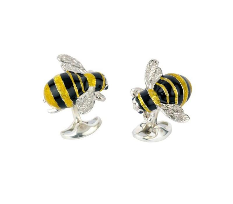 Sterling Silver Cufflinks - Bumble Bee