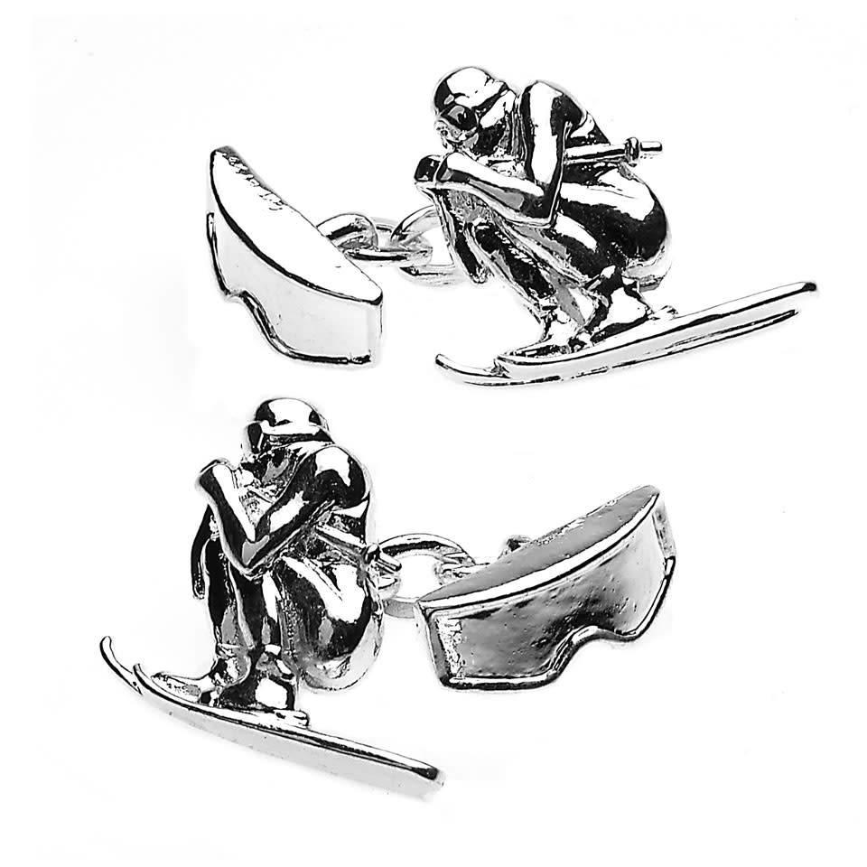 Sporting Cufflinks, Skiing