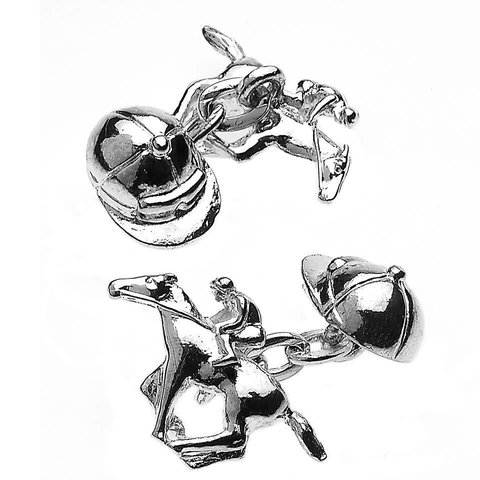 Sporting Cufflinks, Jockey