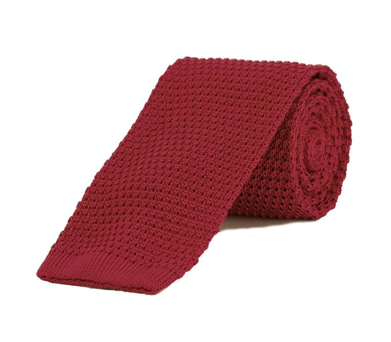 Silk Knitted Tie - Red