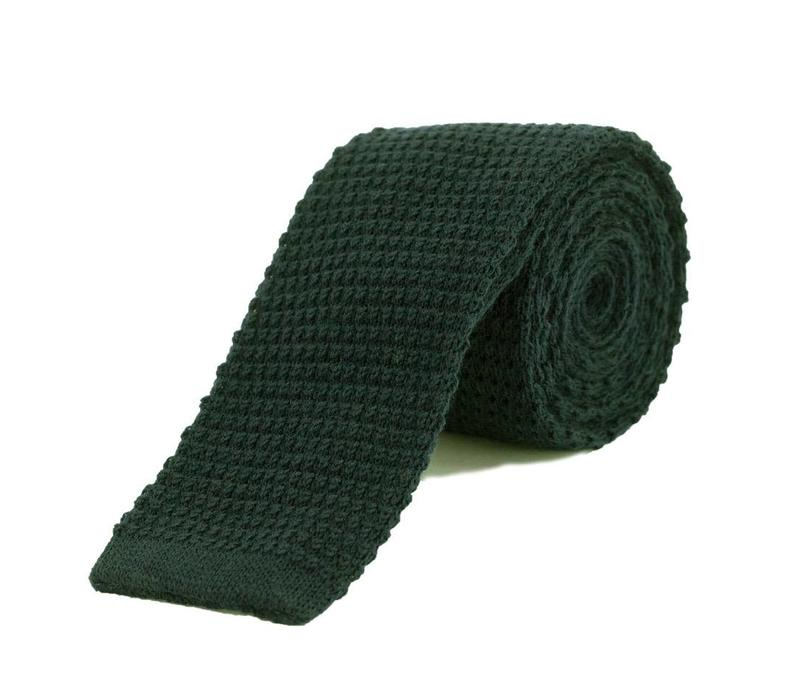 Wool Knitted Tie - Green