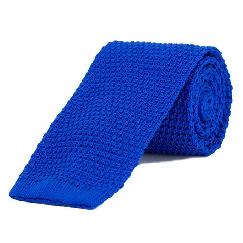 Silk Knitted Tie - Royal Blue