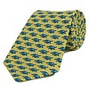 Woven Silk Tie, Elephant - Yellow and Blue