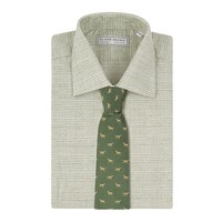 Cashmere Blend Country Shirt, Prince of Wales - Green