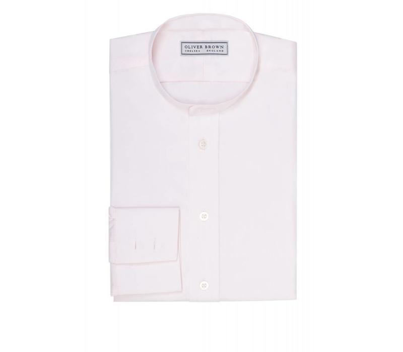 Collarless Shirt - Pink