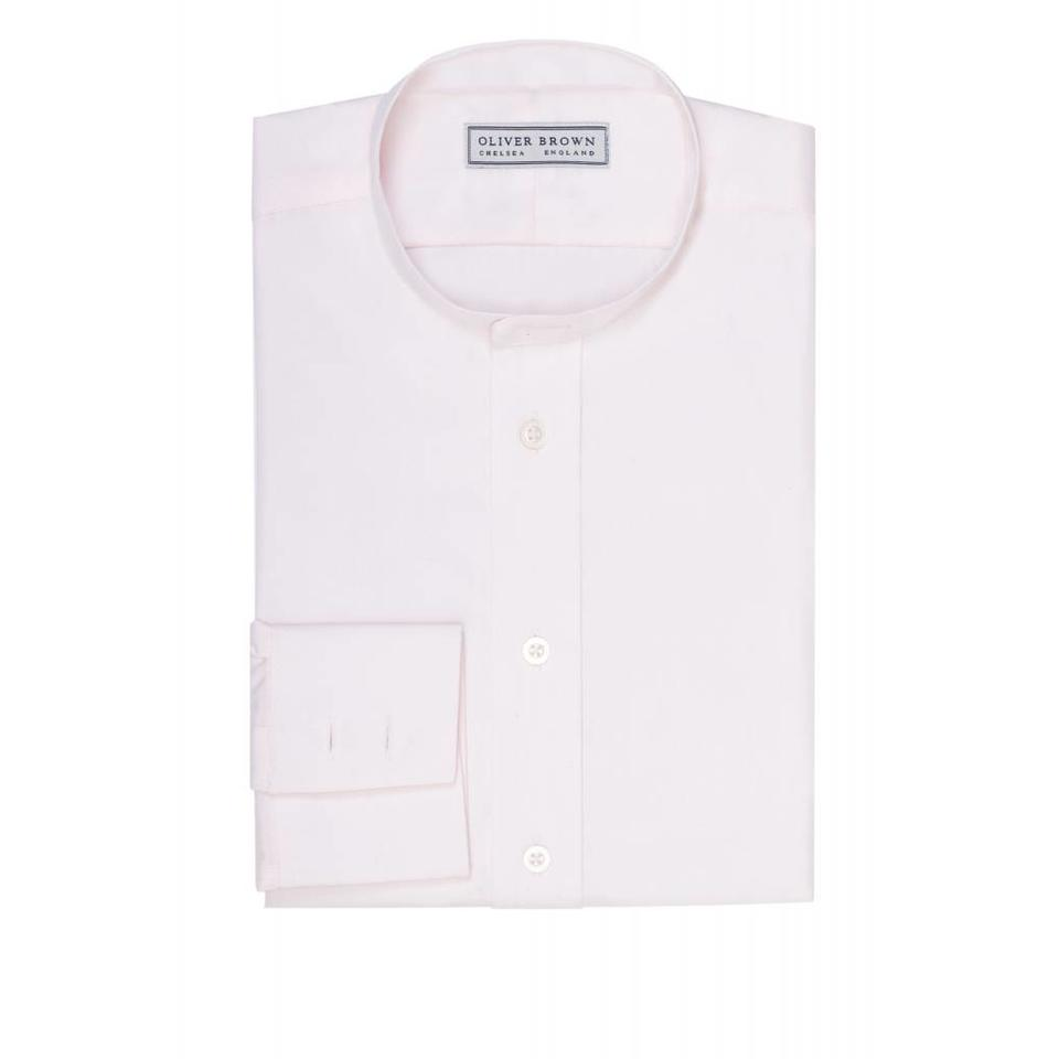 Collarless Shirt - Pink