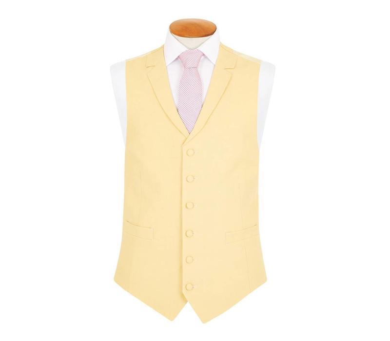 Single Breasted Linen Waistcoat - Yellow