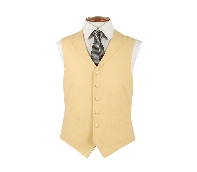 Single Breasted Wool Waistcoat - Yellow