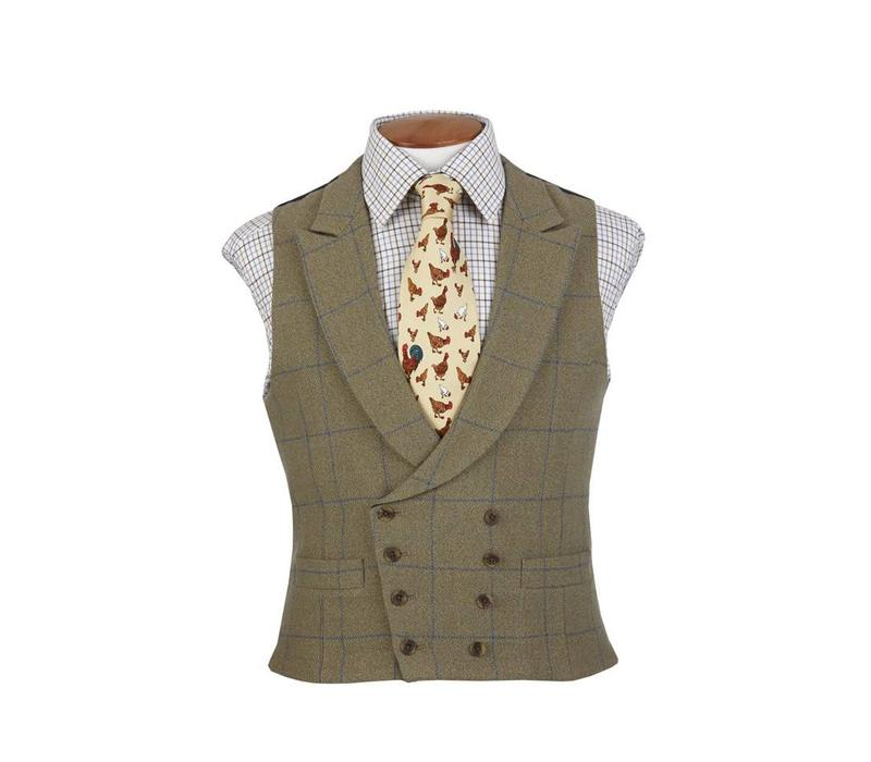 Double Breasted Waistcoat - Ettrick Tweed