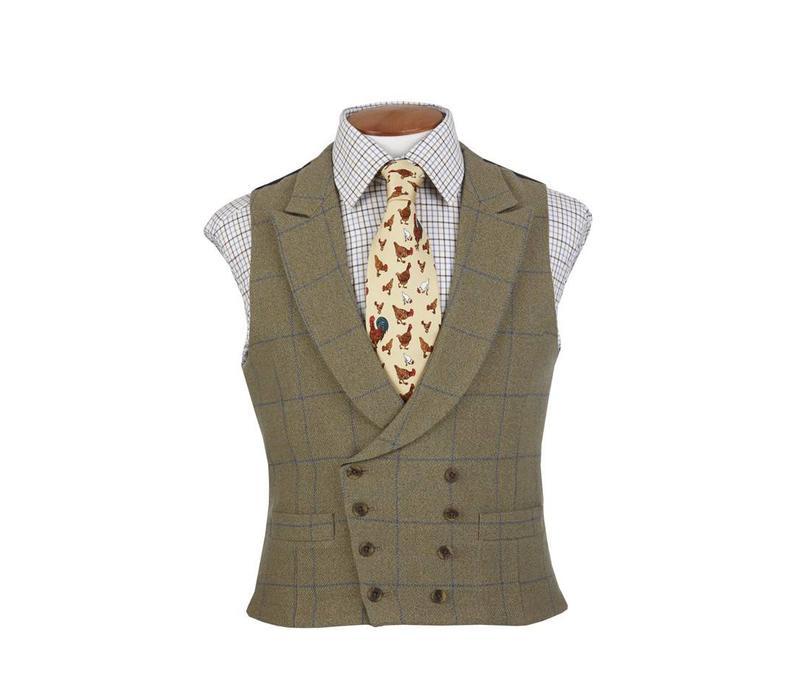 Ettrick Double Breasted Tweed Waistcoat
