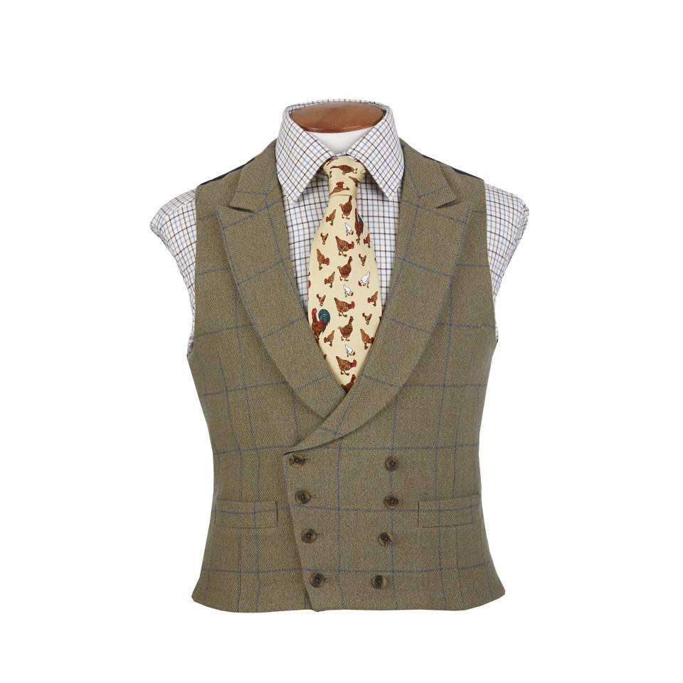 Ettrick Double Breasted Tweed Waistcoat