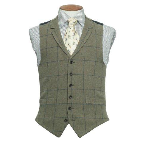 Single Breasted Waistcoat - Ettrick Tweed