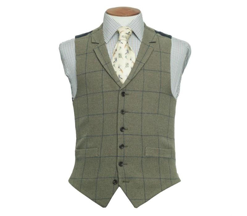 Ettrick Single Breasted Tweed Waistcoat