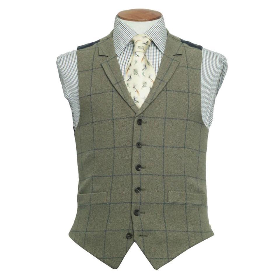 Ettrick Single Breasted Tweed Waistcoat