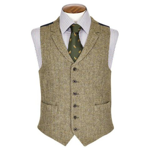 Deveron Single Breasted Tweed Waistcoat