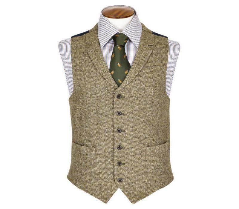 Deveron Single Breasted Tweed Waistcoat
