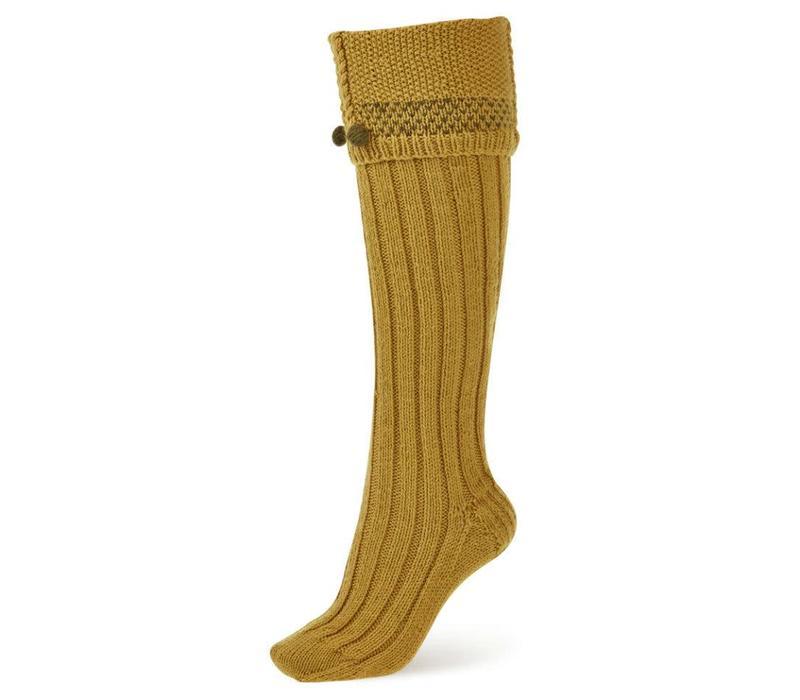 Handmade Shooting Socks - Mustard
