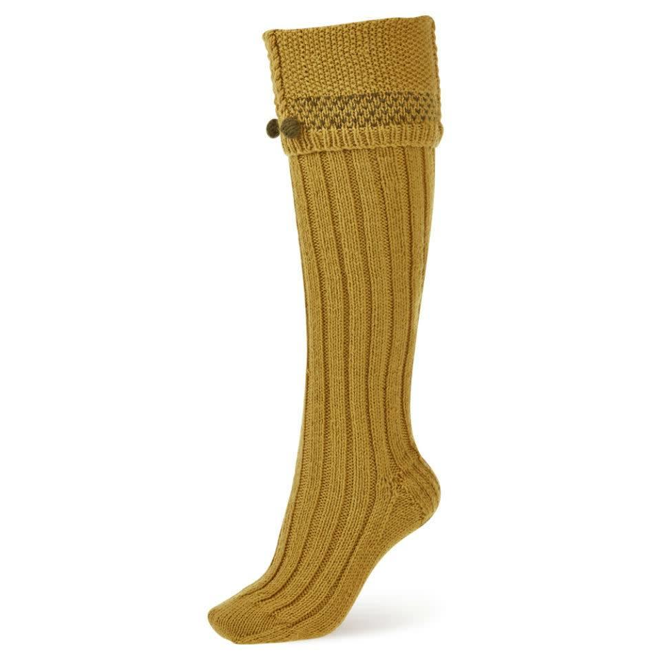 Handmade Shooting Socks - Mustard