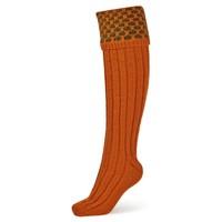 Handmade Shooting Socks - Orange and Green
