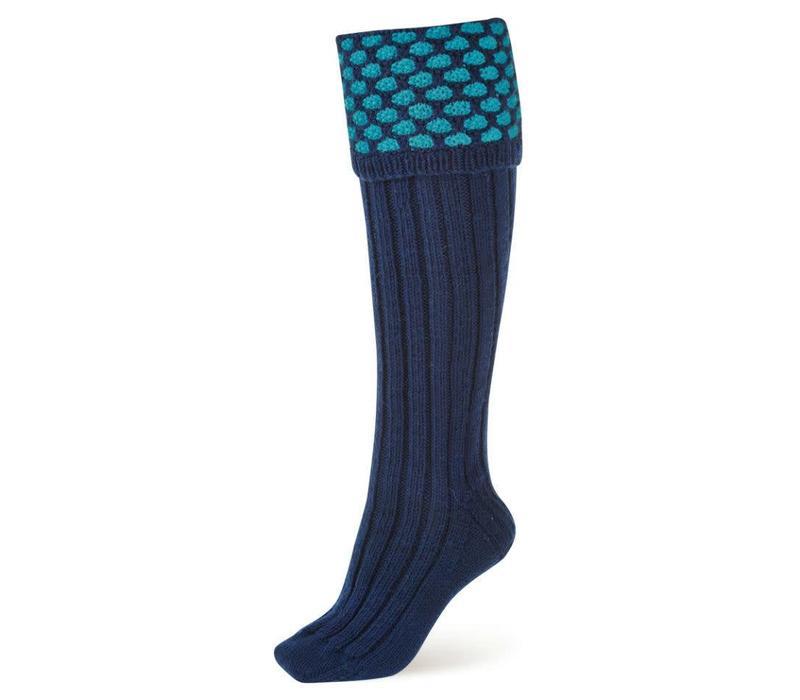 Handmade Shooting Socks - Royal and Pale Blue