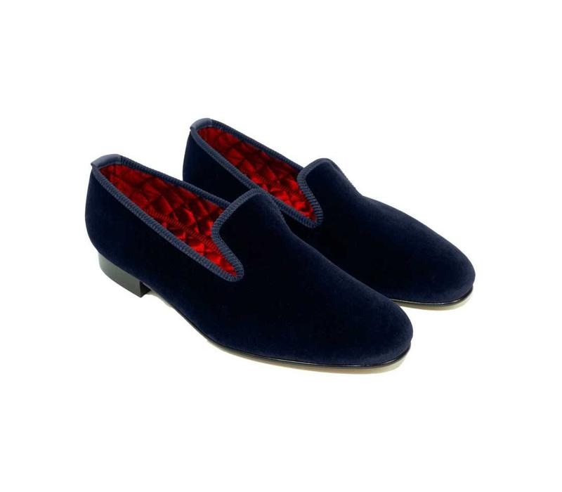 Velvet Slippers - Navy