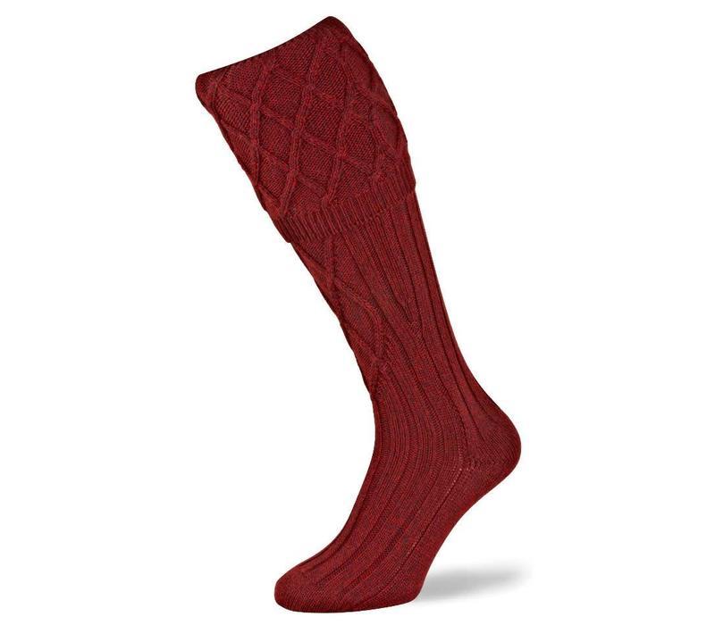 Buxton Shooting Socks - Cherry