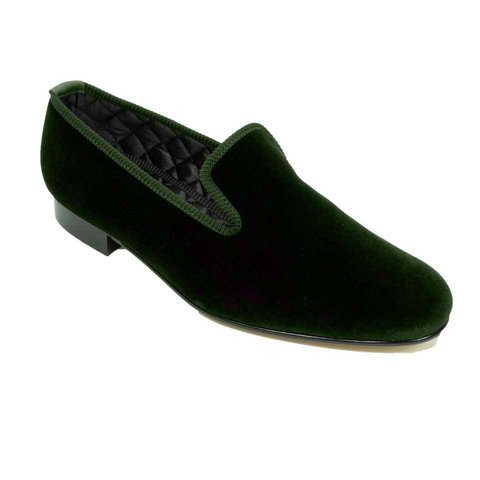 Velvet Slippers - Green
